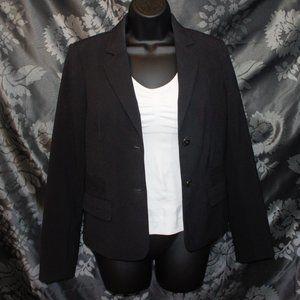 calvin klein womens 2 button blazer black